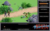 The Last Ninja Atari ST Even with low health, fighting with a sword...