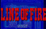 Line of Fire Atari ST Title picture