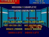 Line of Fire Atari ST Mission complete: I should work on the hit ratio or better find a pal to fight beside me