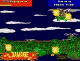 Line of Fire Atari ST Level 2: jungle camp. Quite unfriendly guys around