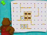 Fatty Bear's FunPack DOS Lines and Boxes game