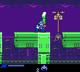Mega Man Xtreme Game Boy Color Enemy blocks road