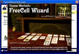 FreeCell Wizard Windows When the game loads it displays the 'Help centre' overlaid with this splash screen.