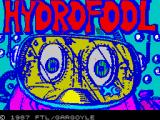 Hydrofool ZX Spectrum Title screen