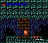 Bonk's Revenge TurboGrafx-16 Destroy stones to go there