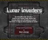 Lunar Invaders Browser Title screen.