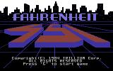 Fahrenheit 451 Commodore 64 Title screen