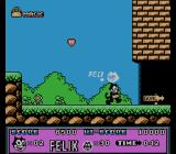 Felix the Cat NES End of level