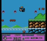Felix the Cat NES Felix don't like water. Another life lost.