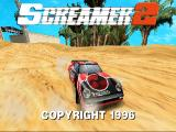 Screamer 2 DOS Title screen (SVGA mode)