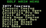 Chip Shot: Super Pro Golf Intellivision The main menu