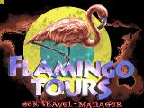 Flamingo Tours DOS Title Screen.