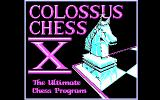 Colossus Chess X DOS Title Screen (CGA).