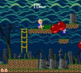Bonze Adventure TurboGrafx-16 Red balls are enemies too