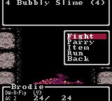 Wizardry: Proving Grounds of the Mad Overlord Game Boy Color Slime to kill