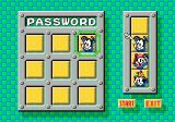Animaniacs Genesis After completing a number of levels, you receive a password which can be use to continue playing the next time.