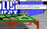 Leisure Suit Larry III: Passionate Patti in Pursuit of the Pulsating Pectorals DOS The final sequence with just one of the numerous Easter eggs to encounter here.