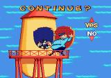 Animaniacs Genesis Continue screen: caught by the guard