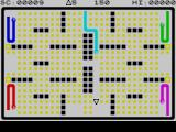 Adder Attack ZX Spectrum Player is a white triangle