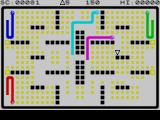 Adder Attack ZX Spectrum Purple snake chases me