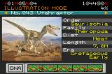 Jurassic Park III: Park Builder Game Boy Advance Use your dinosaur guide book to see the information about each dinosaur you create