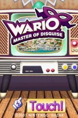 Wario: Master of Disguise Nintendo DS Title screen