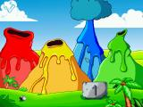 "Putt-Putt Travels Through Time Windows The colored volcano ""Simon Says""-type minigame"