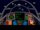 Wing Commander 1+2 Windows WC2 - Flying through an asteroid field.