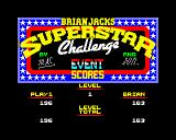 Brian Jacks Superstar Challenge ZX Spectrum At the end of each event, the score status displays the event score and the total score