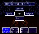 Paladin's Quest SNES Battle menu 1 - Action