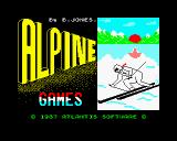 Alpine Games ZX Spectrum Loading screen