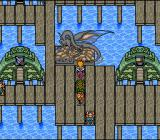 Paladin's Quest SNES The water town of Lagon