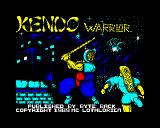 Kendo Warrior ZX Spectrum Loading screen