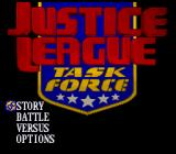 Justice League: Task Force SNES Title Screen