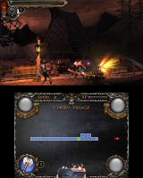 Castlevania: Lords of Shadow - Mirror of Fate Nintendo 3DS Simon fighting some zombies...