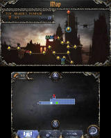 Castlevania: Lords of Shadow - Mirror of Fate Nintendo 3DS The Travel Book's map screen... where you can leave notes.