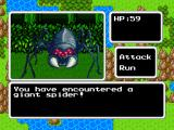 RPG Quest: Minimæ iPad An encounter with a giant spider.