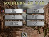 Soldiers at War Windows Main screen