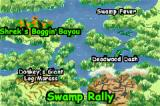 Shrek: Swamp Kart Speedway Game Boy Advance Each area has different tracks for you to race on