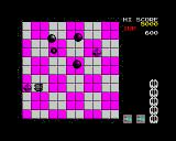 Motos ZX Spectrum Round 2, diamonds can be shoved off for a 1000 points bonus