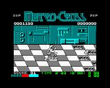 Metro Cross ZX Spectrum Jumping on cans can make the timer stop