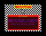 International Speedway ZX Spectrum Basically, what they're trying to say Hans is you failed and you let all of your fans down, try harder next time