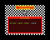 International Speedway ZX Spectrum Enter your name, so here we have Hans