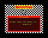 International Speedway ZX Spectrum Enter your nationality, our friend Hans is from Austria