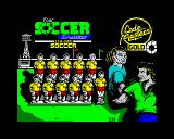 4 Soccer Simulators ZX Spectrum 11-a-Side Soccer loading screen