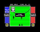 4 Soccer Simulators ZX Spectrum Hmph typical!  Fouled for time wasting!