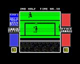 4 Soccer Simulators ZX Spectrum Oh my goodness!  The goalkeeper appears to have the ball stuck to his face!  He requires urgent medical attention!