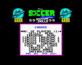 4 Soccer Simulators ZX Spectrum Soccer Skills title screen