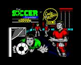 4 Soccer Simulators ZX Spectrum Indoor Soccer loading screen