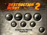Destruction Derby 2 DOS Main menu